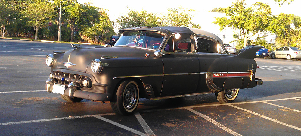 1953 Chevy Belair Custom out on the town 2014