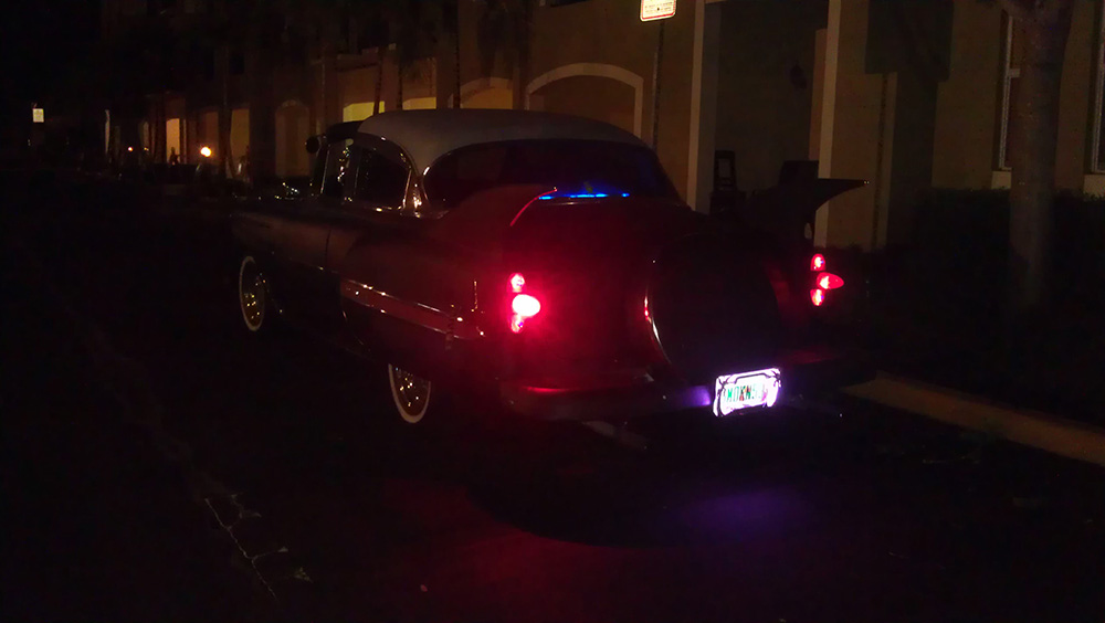 1953 Chevy Belair Custom hot rod out on the town 2015 night