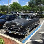 1953 Chevy Belair Custom out on the town at the store