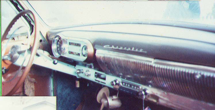 53 Chevy dashboard before paint