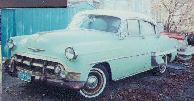 1953 Chevy Stardust, first painted, Spring 1991