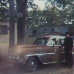 Christopher Pinto with his 1953 Chevy Belair in 1990.