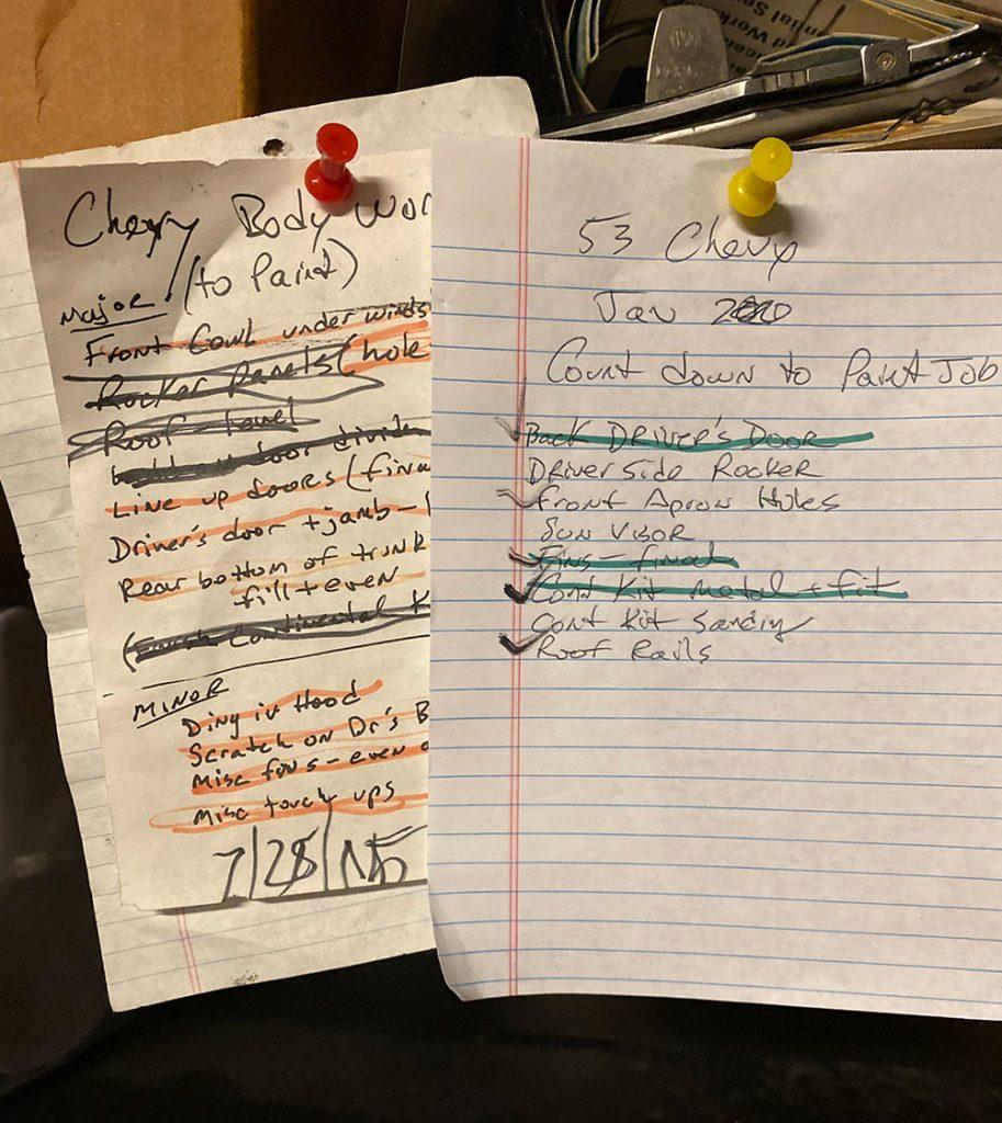Bodywork Notes, 2015 & 2020