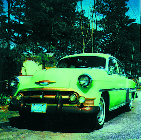 53 Chevy on a photo shoot, 1992
