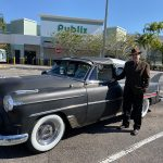 "Chris Pinto with his 53 Chevy Custom ""Stardust"", Thanksgiving breakfast 2019"