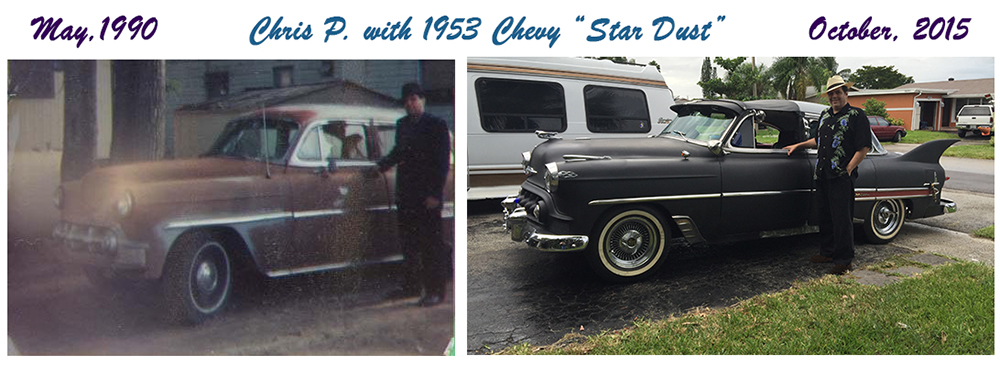 1953 Chevy Belair Custom then and now 1990 2015