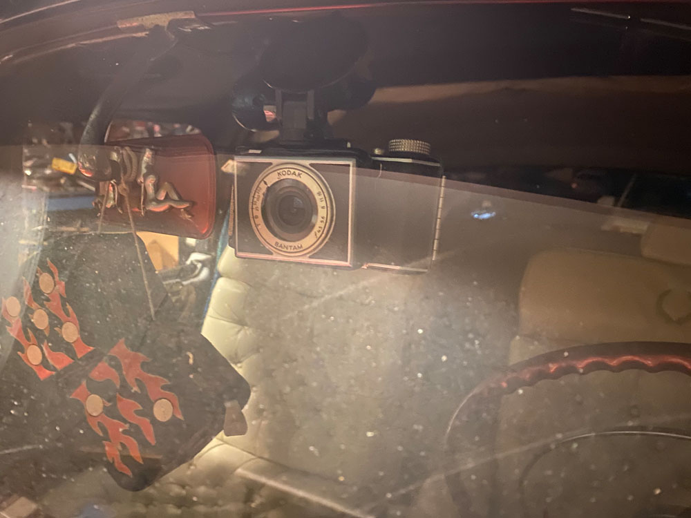 53 Chevy 1938 Dash Cam in car