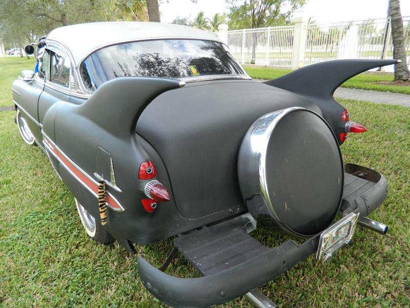 "fins sunrise florida 2017 Florida 53 Chevy Custom Belair Hotrod ""Stardust"" Fins before gloss paint job tr"
