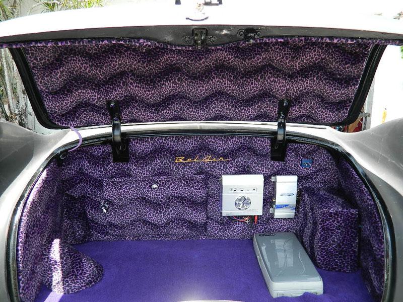 """TRUNK 53 Chevy Custom Belair Hotrod """"Stardust"""" Fins before gloss paint job"""