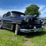 "1953 Chevy Hot Rod Custom Belair ""Stardust"" in the sun"