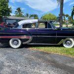"side 1953 Chevy Hot Rod Custom Belair ""Stardust"" in the sun"