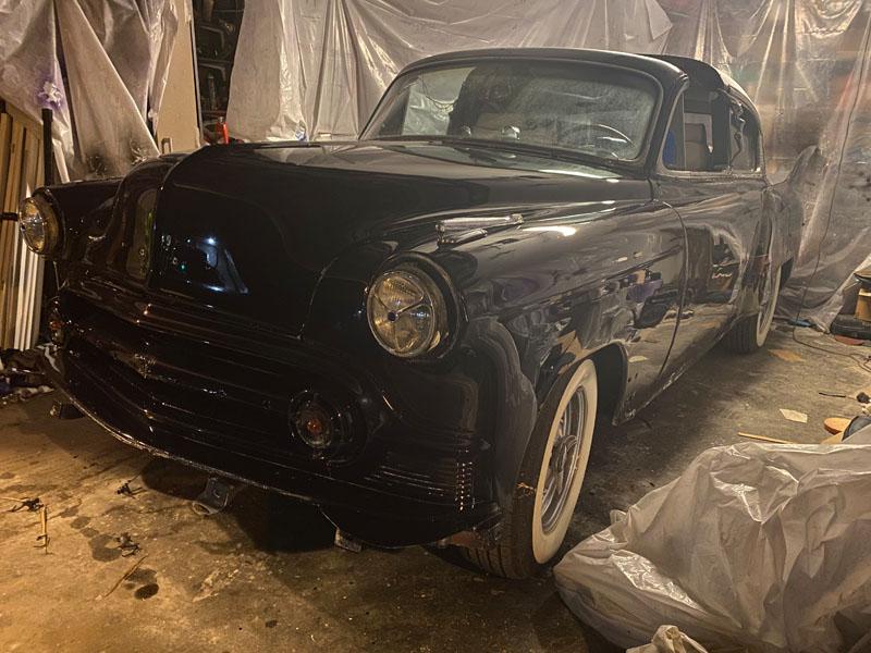"sunrise florida 2020 Florida 53 Chevy Custom Belair Hotrod ""Stardust"" Fins getting painted"
