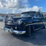 "1953 Chevy Hot Rod Custom Belair ""Stardust"" new paint job in the sun"