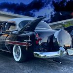 "1953 Chevy Hot Rod Custom Belair ""Stardust"" Fins on a stormy day"