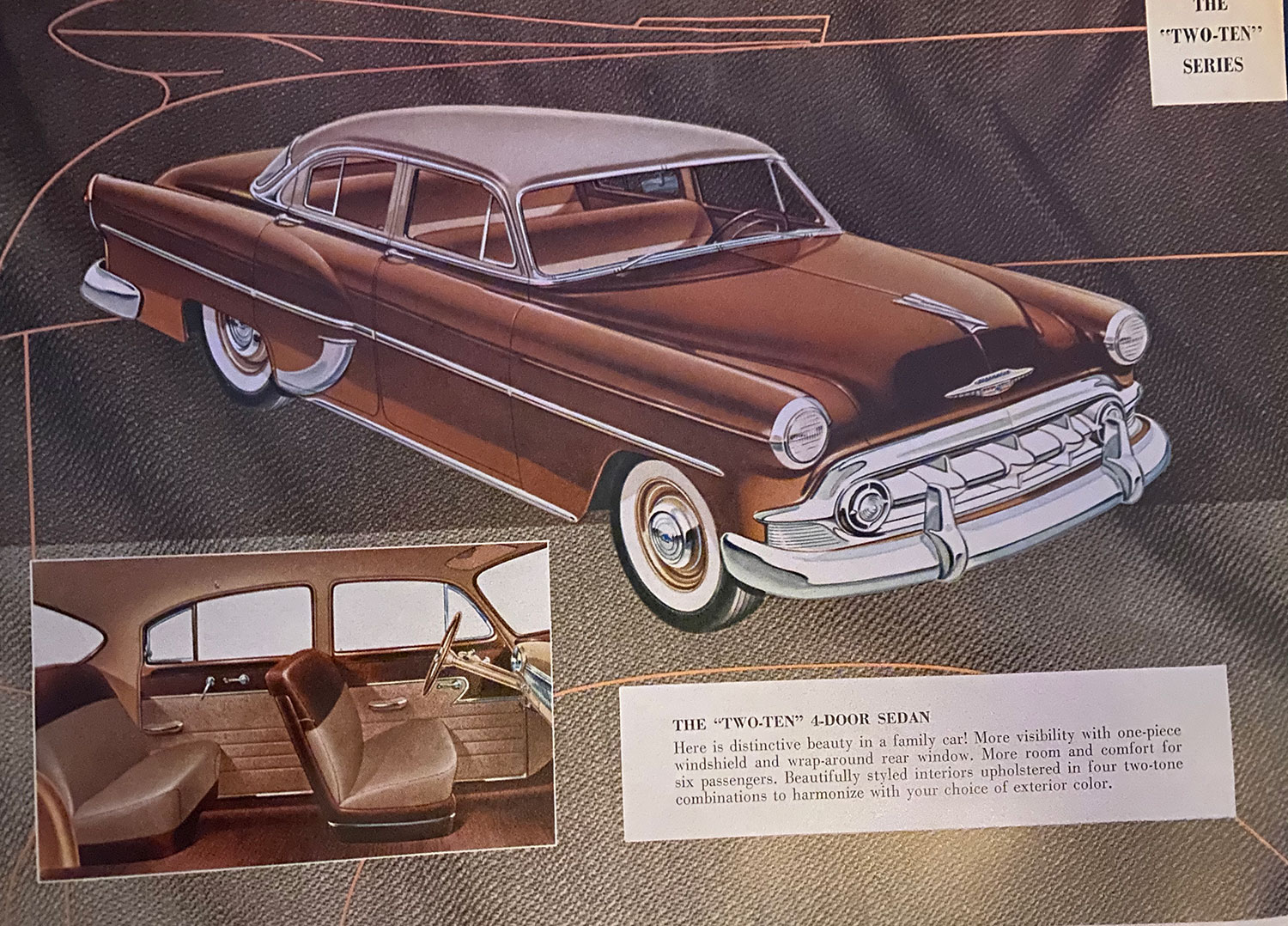 1953 Chevy sales brochure photo two ten series