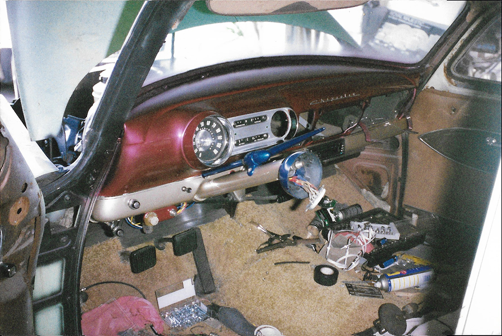 53 Chevy interior in production