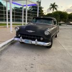 "hollywood florida 2019 Florida 53 Chevy Custom Belair Hotrod ""Stardust"" Fins before gloss paint job tr"