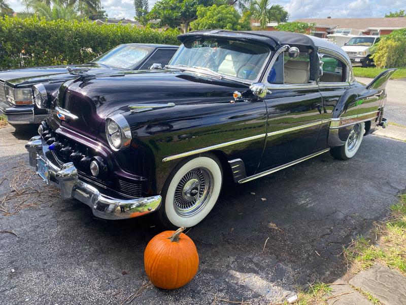 """1953 Chevy Hot Rod Custom Belair """"Stardust"""" with a pumpkin"""