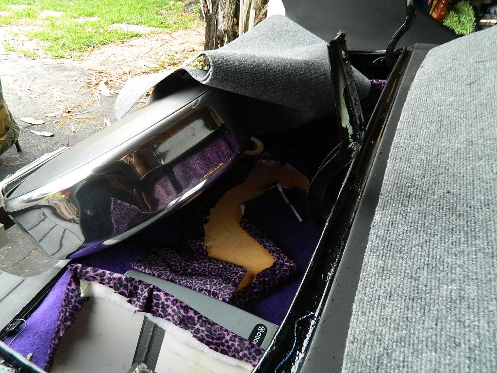 53 Chevy custom trunk in progress