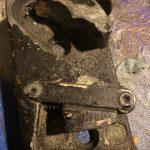 53 Chevy door striker plate bad