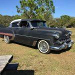 "tree tops park florida 2017 Florida 53 Chevy Custom Belair Hotrod ""Stardust"" Fins before gloss paint job tr"