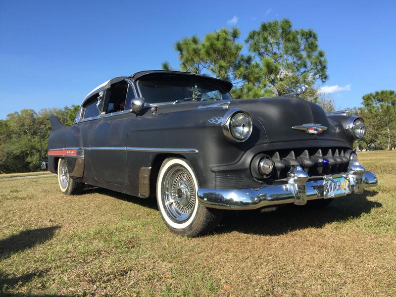 "2017 Florida 53 Chevy Custom Belair Hotrod ""Stardust"" Fins before gloss paint job tr"