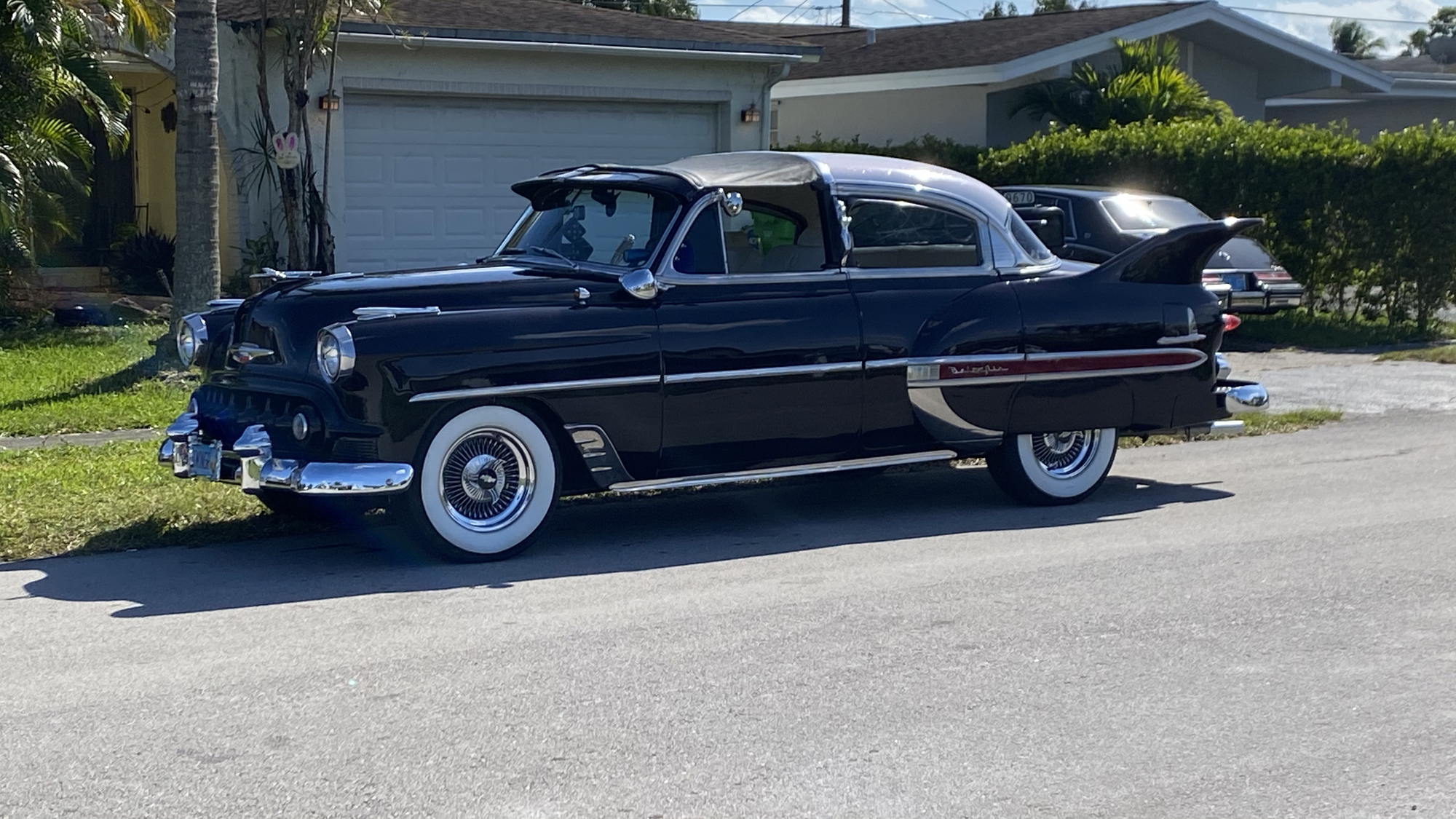 53 Chevy Custom Belair in the Sun, March 2021, front driver side